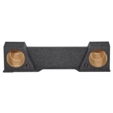 "2007-2013 GMC/Chevy Xcab Underseat Downfire Dual 10"" Subwoofer Sub Box Enclosure"