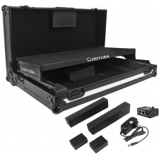 Odyssey FFXGSPIDDJSXBL Flight FX Series Pioneer DDJ-SX S1 T1 Case w/Laptop Shelf