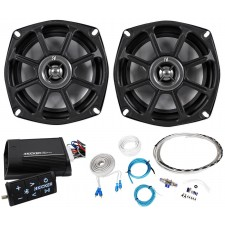 "Kicker 10PS5250 5.25"" Harley Davidson Motorcycle Speakers+Bluetooth Amp+Remote"