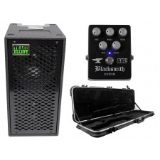 "Trace Elliot ELF 2x8 Dual 8"" Bass Guitar Speaker Cabinet + Case + Effect Pedal"