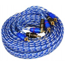 Rockville RTR204 20 Foot 4 Channel Twisted Pair RCA Cable Split Pin, 100% Copper