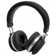 Black Fabric Portable Bluetooth Headphones With Great Sound and Very Comfortable