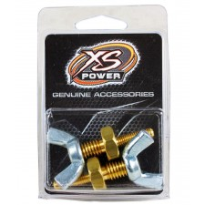 "Pair Of (2) XS Power 590 3/8"" Battery Post Wing Nut Stud Adaptors"