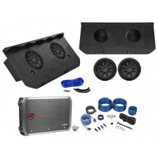 "2002-2013 Chevy Avalanche, Cadillac Escalade EXT 12"" Kicker Subs+Amp+Box+Wires"