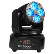 (2) American DJ Mega Flash DMX Strobe Lights w/ Sound Sensor+RGBW Moving Head