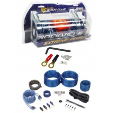 Rockville RXC4D 4 Farad/12 Volt Digital Power Capacitor+RWK41 4 AWG Amp Wire Kit