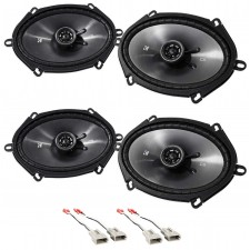 "1997-1998 Lincoln Navigator Front+Rear Kicker 6x8"" Speaker Replacement Kit"
