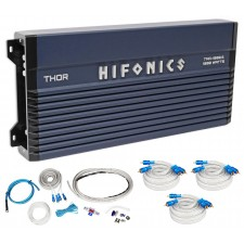 Hifonics TMA-1000.6 1000w 6-Channel Marine Boat ATV/UTV/RZR Amplifier+Amp Kit