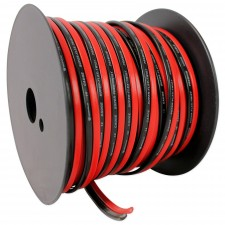 Rockville R14GSBR100 Red/Blk 14 Gauge 100' Ft. Mini Spool Car Audio Speaker Wire