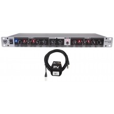 Rockville RX230 2 Way Stereo/3 Way Mono Crossover, XLR Input/Output+Peavey Cable