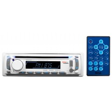 Boss MR648W Single Din MARINE Boat CD Player Receiver wUSB/SD/MP3/AM/FM - White