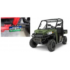 Registration Green Sticker Mounting Plate+Clamps for 2014-Under Polaris Ranger