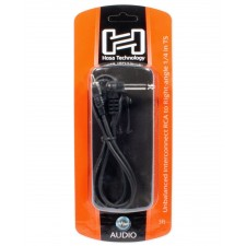 "Hosa CPR-103R 1/4"" TS Right Angle - RCA 3Ft Unbalanced Interconnect Audio Cable"