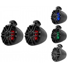 "Pair Memphis Audio MXA62PS 6.5"" 150w LED Tower Speakers For Polaris RZR/ATV/UTV"