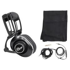 Blue Lola Black Sealed Over-Ear Studio Headphones w/ 50mm Drivers+Cables+Case