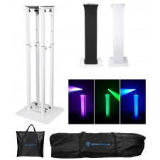 Rockville RTP32W Totem Moving Head Light Stand+Black+White Scrims+Carry Bags