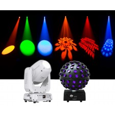 Chauvet DJ Intimidator Spot 375Z IRC LED Moving Head Light + ADJ Sphere Light