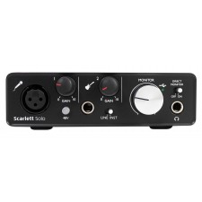 Focusrite SCARLETT SOLO 2nd Gen 192KHz 2.0 Audio Interface+Microphone+Case+Cable