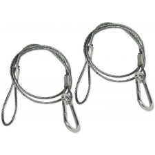 """2) Chauvet CH-05 31"""" Inch Safety Clamp Lighting Cable Wires - Up To 700 LBS CH05"""