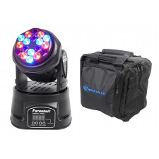 FARENHEIT FH318MH DMX RGB LED Moving Head Beam Club Stage Party Light+Carry Bag