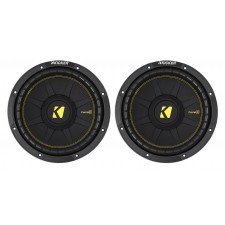 (2) KICKER 44CWCS104 CompC 10 1200w SVC 4-Ohm Car Audio Subwoofers Subs CWCS104