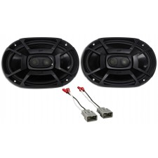 2003-2007 Honda Accord Rear Polk Audio Speaker Replacement Kit+Harness