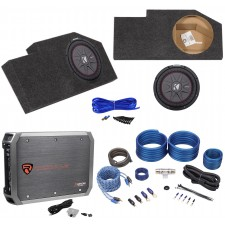 "2002-Up Dodge Ram Quad Cab Sub Box Enclosure+Kicker 10"" Subwoofer+Amplifier+Kit"