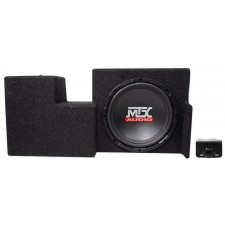 "Active 10"" MTX Subwoofer+Sealed Sub Box Enclosure For 09-15 Ford F-150 Super Cab"