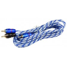 Rockville RTR062 6 Foot 2 Channel Twisted Pair RCA Cable Split Pin, 100% Copper