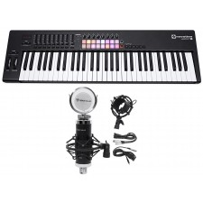 Novation LAUNCHKEY 61 MK2 MK11 61-Key USB/MIDI Controller Keyboard+Studio Mic