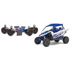 """Yamaha YXZ MTX  (4) 6.5"""" LED Tower Speakers+2-Channel Amplifier+Wiring"""