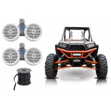 "2 Rockville DWB80W Dual 8"" 800w Tower Speakers for Polaris RZR/Jeep/ATV/UTV/Cart"