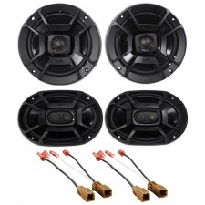 Polk Audio Front+Rear Speaker Replacement Kit For 2000-2004 Nissan Xterra