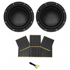 "(2) Polk Audio DB842SVC 8"" 1500w Single 4-Ohm Car Audio Subwoofer Sub+Rockmat"