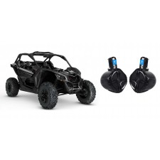 """6.5"""" 250 W Rollcage Rollbar Tower Speakers - Black for Can-Am MAVERICK X3/X3 Max"""