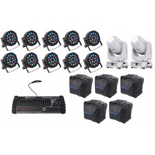 2) Chauvet DJ Intimidator Spot 375Z IRC Moving Heads+(10) Wash Lights+Controller