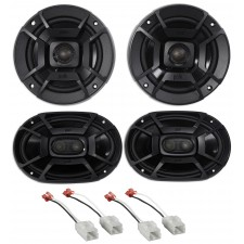 2006-2008 Dodge Ram 1500 Polk Audio Front+Rear Speaker Replacement Kit