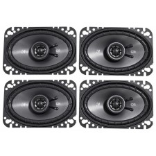 "(4) KICKER 43CSC464 4""x6"" 4x6 600 Watt 4-Ohm 2-Way Car Audio Speakers CSC464"
