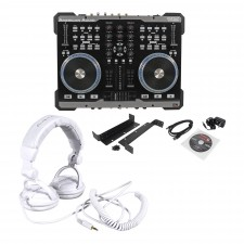 American Audio VMS2 USB MIDI DJ Controller With Touch Scratch Wheel + Headphones