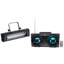 American DJ Mega Flash DMX 800w Compact DMX Strobe Light+Free Bluetooth Speaker!