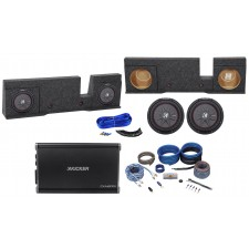 """2004-2008 Ford F150 Xcab or Super Crew 10"""" Kicker Subwoofers+Amp+Sub Box+Wires"""