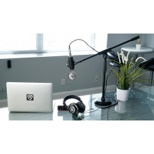 Rockville PC Gaming Streaming Twitch Bundle: RCM01 Microphone+Headphones+Stand