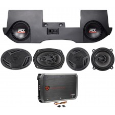 "2002-16 Dodge Ram Quad/Crew Cab 10"" MTX Subwoofers+Box+Front+Rear Speakers+Amp"