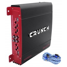 Crunch PX-1000.4 1000 Watt 4-Channel Car Audio Amplifier Amp PX1000.4+RCA Cable
