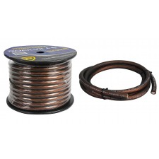 Rockville R0G100 BLACK 0 Gauge 100 Foot Spool Car Amp Power/Ground Wire Cable