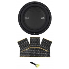 "Polk Audio MM842DVC 8"" 900 Watt DVC 4-Ohm Car/Marine Audio Subwoofer Sub+Rockmat"