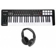 M-Audio Oxygen 49 MK IV 49-Key USB MIDI Keyboard Controller MKIV MK4+Headphones