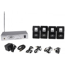 Peavey ALS 72.9 Mhz Assisted Listening System Transmitter + 4 Receivers/Ear Buds