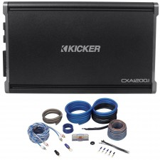 Kicker 43CXA12001 CXA1200.1 1200 Watt RMS Mono Class D Car Amplifier + Amp Kit