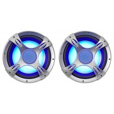 "(2) NYC Acoustics NC12S4 3200w 12"" 4 Ohm Car Audio Subwoofers w/ LED Sub Grilles"